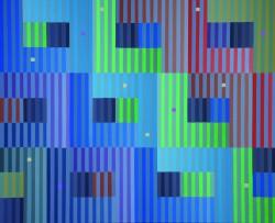 Spektral II, 80 cm x 66 cm, Öl auf Leinwand, 2010, Helga Schuhmacher