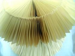 Serie Sapentia (Weisheit) , Höhe ca.18 cm, Durchmesser ca. 20 cm je Objekt, Faltobjekte aus Taschenbü- chern, 2010, Iris Flexer