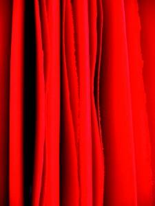120 Seiten rot, 39 cm x 59,5 cm x 300 cm, Malerei, Acryl auf Papier, 2013, Susan Tauss