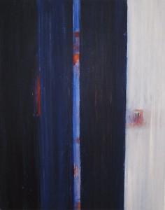 o.T. Acryl u. Kreide/LW 100 x 80 cm, Elke Lang-Müller