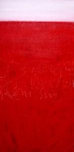 o.T. Acryl/LW 100 x 50 cm, Elke Lang-Müller
