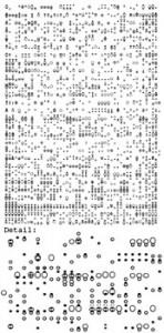 """""""0°+, Serie seit 1998, Schreibmaschine auf Papier, Stefanie Reling"""