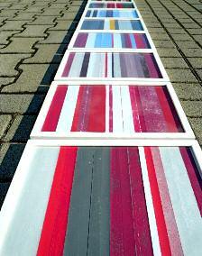 Markierung, Hochdruck 16 Teile, 2011, Sabine Sulz
