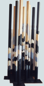 Stelen, Acryl auf Holz, Ulli Heyd