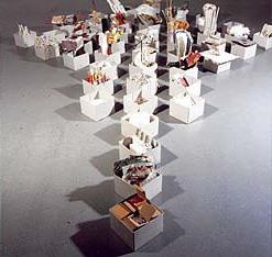 """""""Zustandsformen"""", Papierarbeit, Installation, Barbara Lörz"""