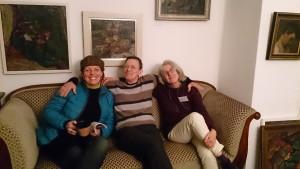 3 lustige Damen beim Plausch (Margit Schranner, Andrea Eitel, Iris Flexer