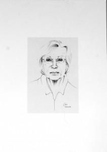 Selbst, Graphit, 2014, Dorothee Nestel