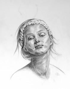 Model, Graphit, 2015, Dorothee Nestel