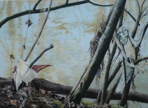 Rems XII, 85 x 115 cm, Öl auf Nessel, 2016