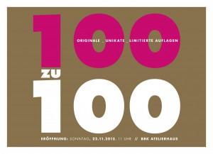100zu100 Verkaufsaktion des BBK Bund Bildender Künstlerinnen Württembergs e.V.