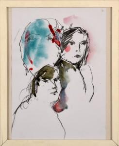 Margarete Steinmaier, o.T. 29,5x21 cm Kohle/ Aquarell 2014