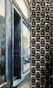 Xin-Yi Zhou, o.T., 73X45 cm Acryl, Tinte auf Leinwand 2011
