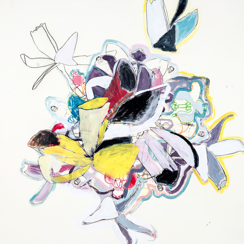 Karin Dorn-Tetzlaff, Mischtechnik auf Büttenpapier, ca. 80 x 80 cm, WR lost paradise, 2016