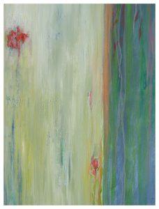 Iris und Tulpe Acryl auf Leinwand, 100X80 cm