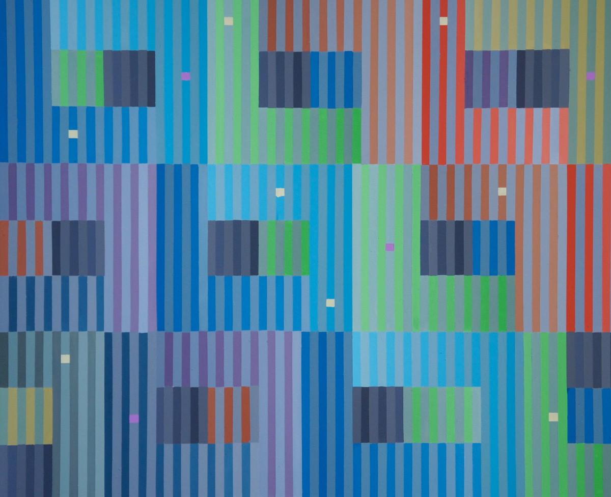 Spektral III, Öl auf Köper, 80 x 66 cm, 2010, Preis 1500 Euro