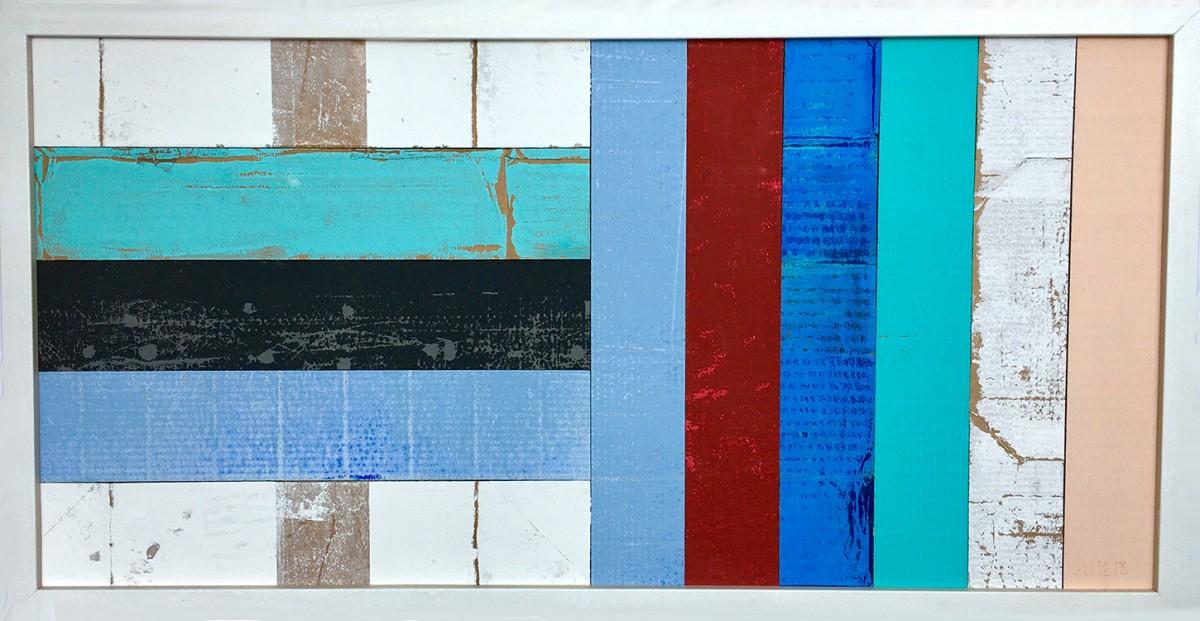 CLOSED Pappe, Hochdruck, 30 x 60 cm, gerahmt, 2019, 250.- EUR