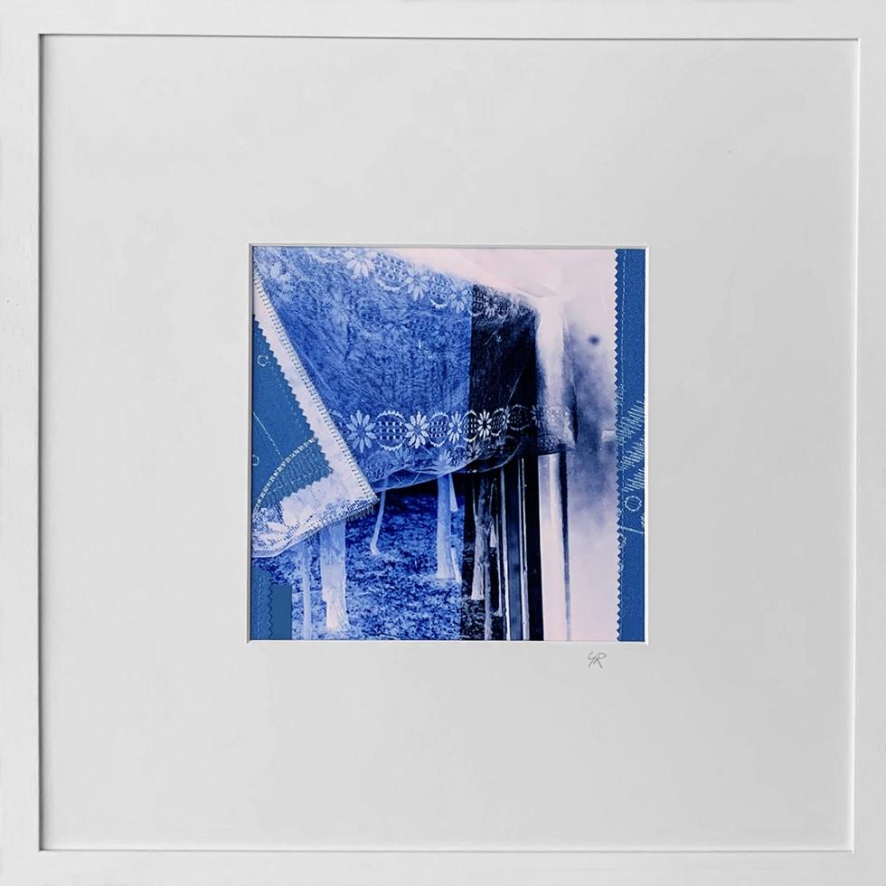 "SERIE ""INTERIEUR /2021"", Fotografie/Kunstdruck/Collage/mixed media/genähte Fotografie, Rahmen mit Passepartout, 42x42cm"
